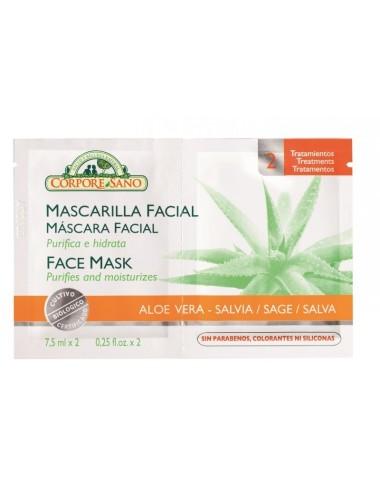 Mascarilla facial Aloe Vera...